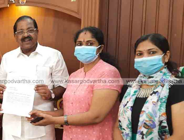 Kerala, News, Samyuktha Samra Samithi, Rajmohan Unnithan, MP, INA, Petition, Samyuktha Samara Samithi Meets Rajmohan Unnithan MP with petitions to reconsider Nursing Bill.