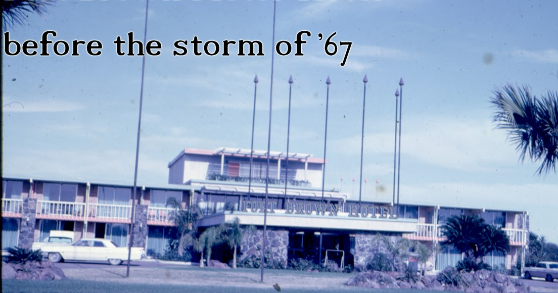 Brownsville Station 1967 Hurricane Beulah Storms Through Ft Brown Motor Hotel