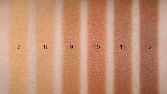 Benefit Hello Happy Velvet Powder Foundation Swatches 6 7 8 9 10 11 12 MAC NC30 NW35 NC42 NC45 NW42 NW45
