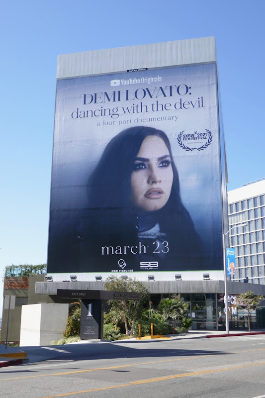 Demi Lovato Dancing with the Devil documentary billboard