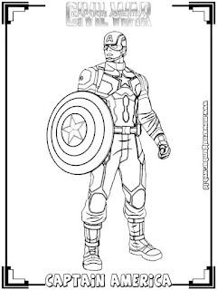 gambar captain america civil war untuk mewarnai