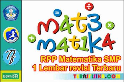 Download RPP Matematika Kelas 4 1 Lembar Semester 2 (Genap) Revisi Terbaru