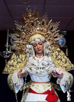 """El Grupo de Fieles """"Luz y Resignación"""" de la Barriada del Campo de Soria de Sevilla suspende el Rosario Vespertino"""