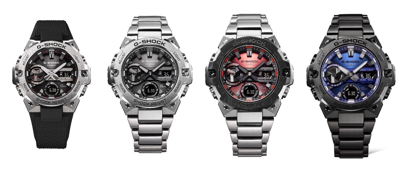 Casio G-SHOCK goes slim with four new steel watches