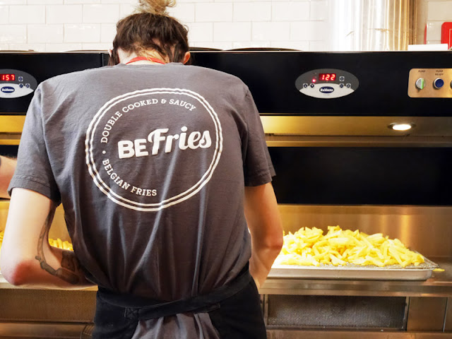 staff working at BeFries in Brighton
