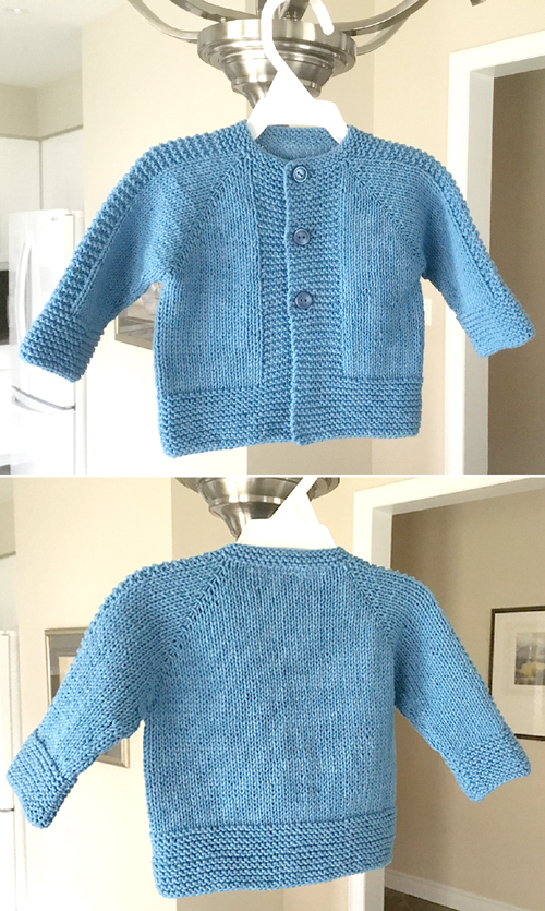 Stylish Top Down Jacket - Knitting Pattern