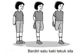 Berdiri Satu Kaki Tekuk Sila