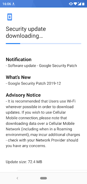 Nokia 5.1 Plus receiving December 2019 Android Security patch