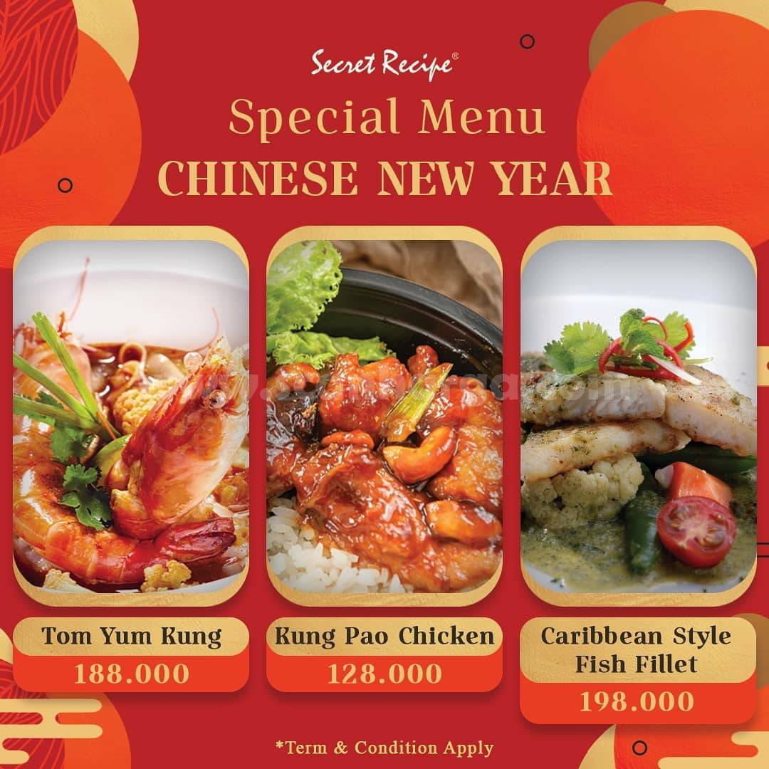 SECRET RECIPE Promo Special Paket Menu Chinese New Year