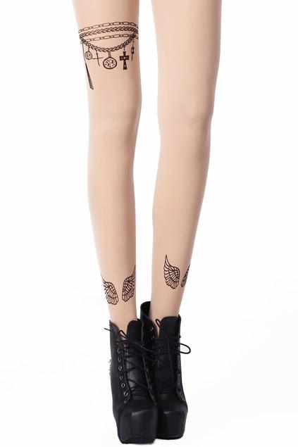 girls love fashion les collants effet tatouage de chez romwe. Black Bedroom Furniture Sets. Home Design Ideas