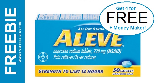 Free at CVS Aleve Pain Reliever 3-22-3-28