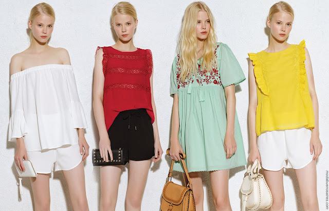 Moda 2018 verano: Moda verano 2018 ropa de mujer. Vestidos, pantalones, blusas y shorts moda 2018.