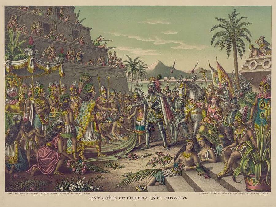 Cortes meet Moctezuma