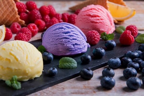 Lemon Blueberry Sherbet