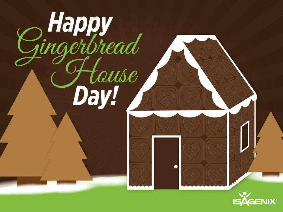 Gingerbread House Day Wishes Photos