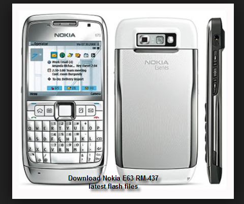 Solution: Download Nokia E63 RM-437 latest flash files