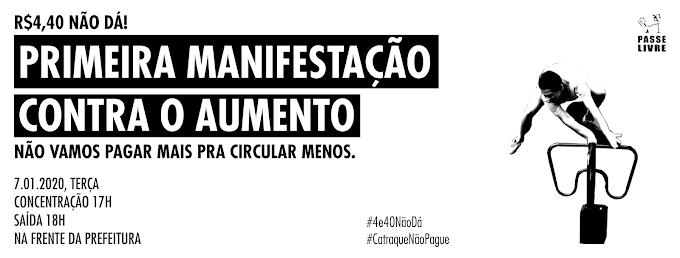Movimento Passe Livre organiza manifestação contra aumento da tarifa em São Paulo