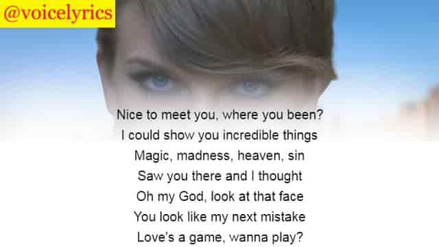 Blank Space Lyrics