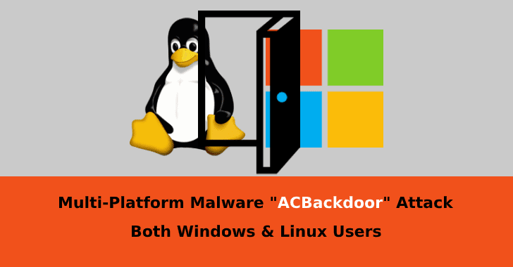 "acbackdoor  - ACBackdoor - Multi-Platform Malware ""ACBackdoor"" Attack Both Windows & Linux Users"