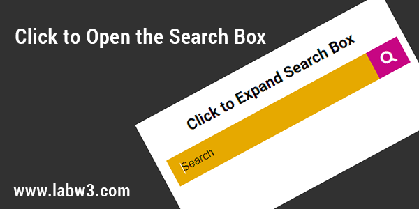 Click to Open the Search Box