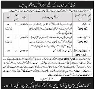 HR Development Center 4 Corps Lahore 2021 Jobs