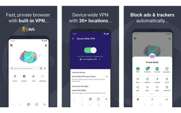 best browser with VPN for android AVG