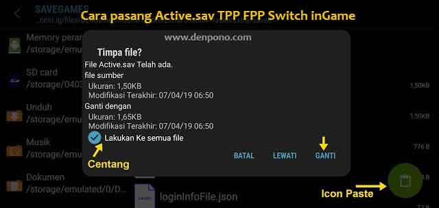 Cara Pasang Tombol Switch TPP FPP dengan File Active Cara Pasang Tombol Switch TPP FPP dengan File Active.sav PUBG Mobile Terbaru