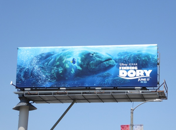 Disney Pixar Finding Dory film billboard