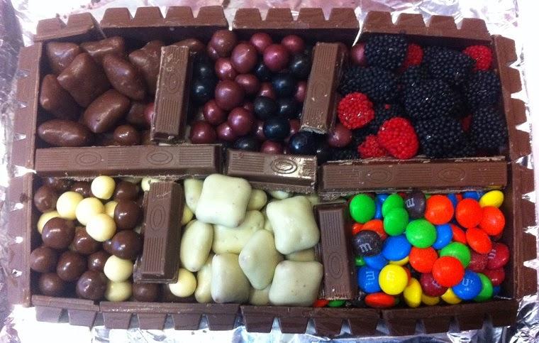 עוגת בריכת ממתקים