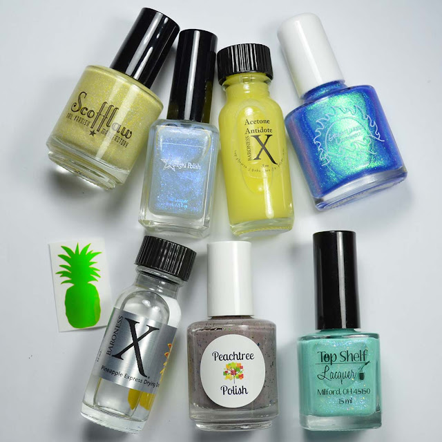 nail polish bottles and sticker