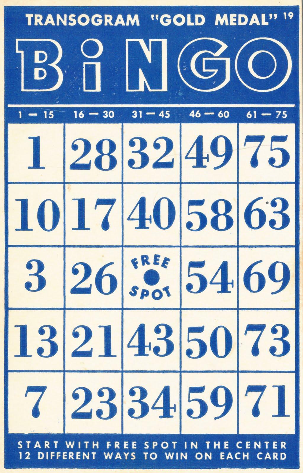 Vintage Bingo Card 113