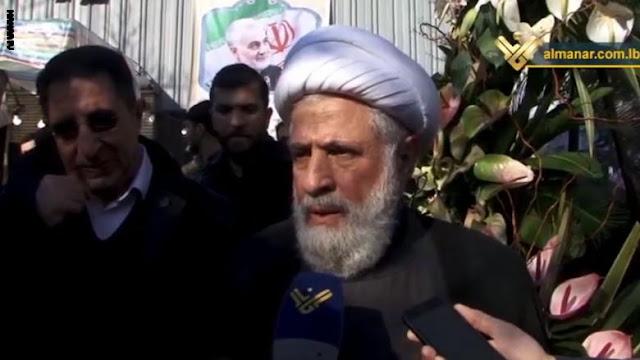 الرجل الثاني بحزب الله اللبناني في إيران لعزاء أسرة قاسم سليماني.. هذا ما قاله