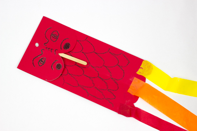 Chinese New Year Dragon Kite Puppet