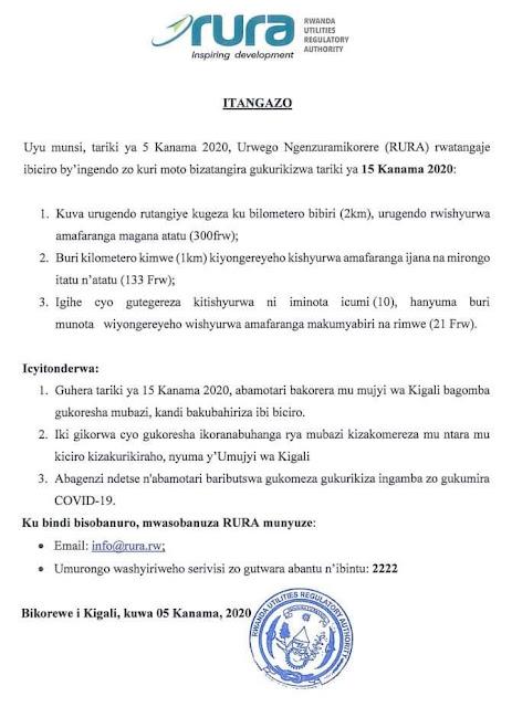 Mubazi kuri moto zitwara abagenzi mu mugi wa Kigali