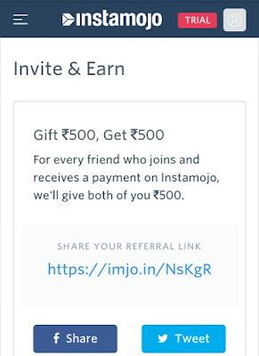 Instamojo-invite-earn