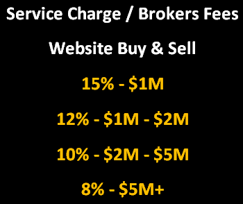 Service Charge (8% -15% For Business Buy & Sell