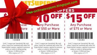 Free Printable Pet Supermarket Coupons