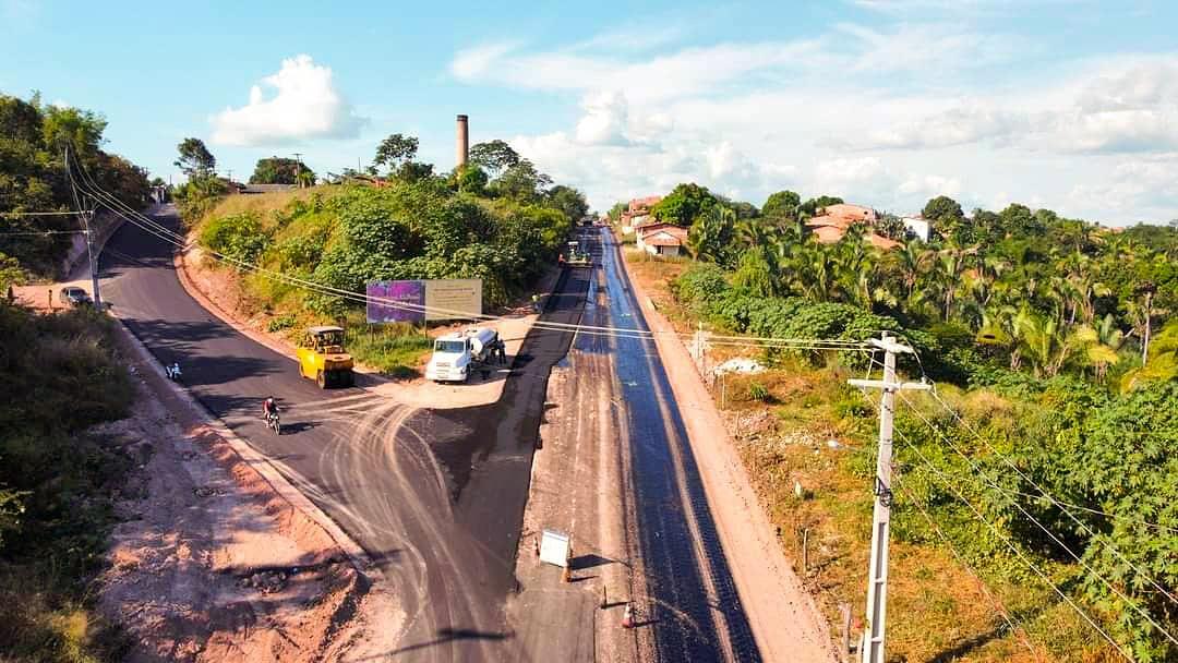 Compromisso e Responsabilidade | Obra de revitalização da entrada de Chapadinha segue em ritmo acelerado