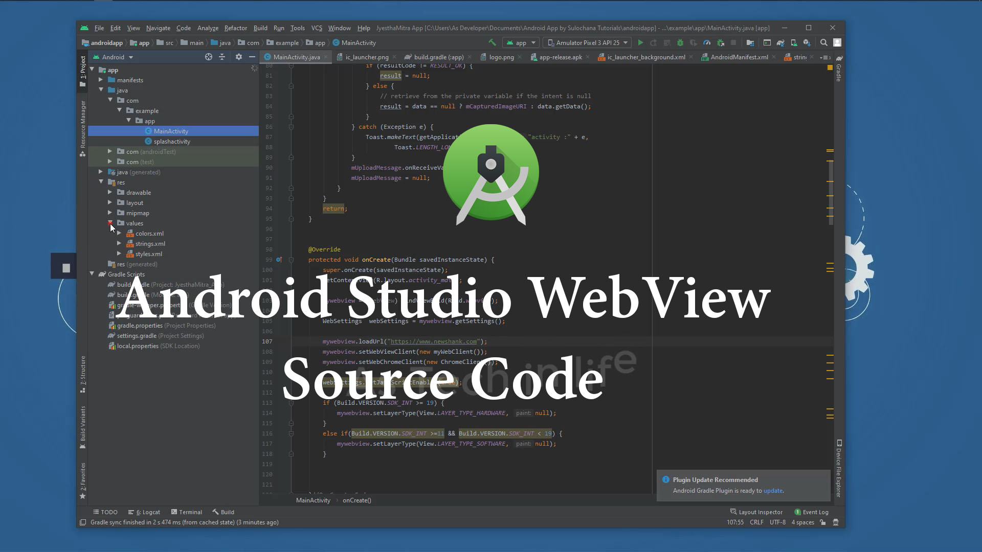 Webview source code  android studio free download 2021 - newshank.com