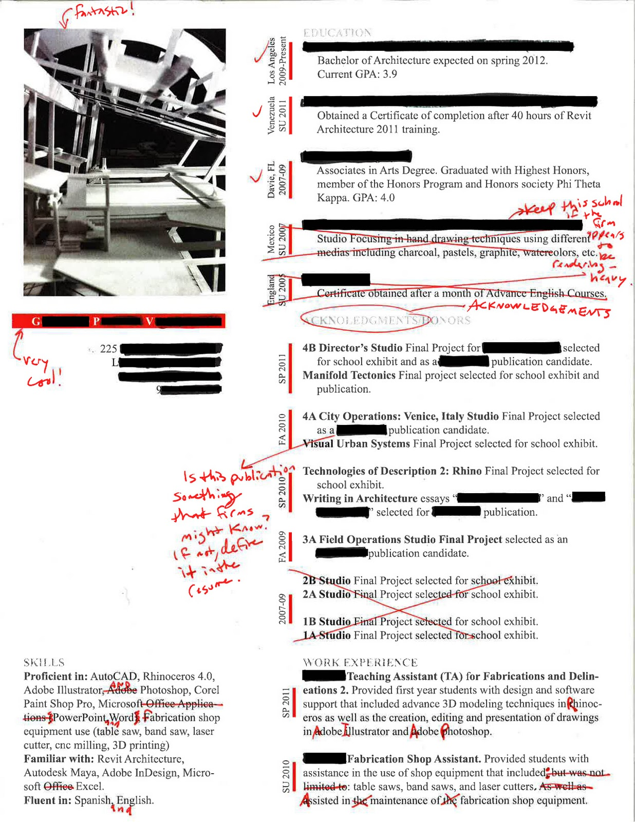 intern 101 redlined resumes nicely done
