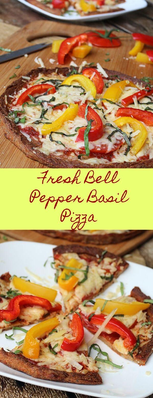 Fresh Bell Pepper Basil Pizza