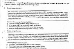 Soal UAS Bahasa Indonesia SMP Kelas 7-9 Semester 1 Sleman