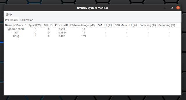 Nvidia Linux system monitor