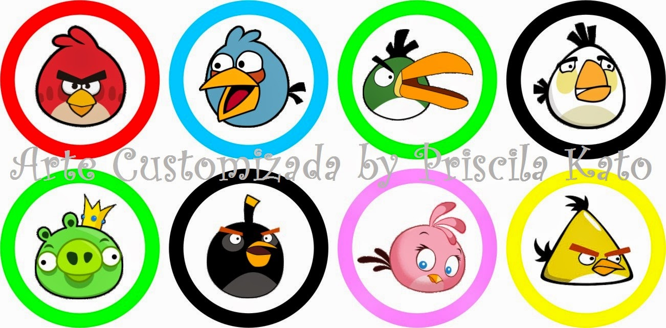 Toppers Personagens Angry Birds: Arte Customizada By Priscila Kato: Agosto 2014