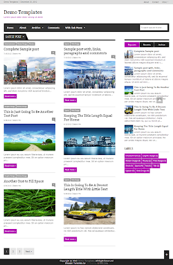 Extra News Purple Blogger Template