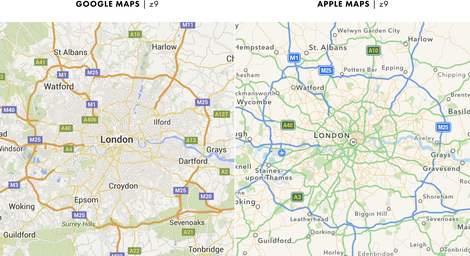 Central London Google Map.Data Deluge The Universal Map S 2016