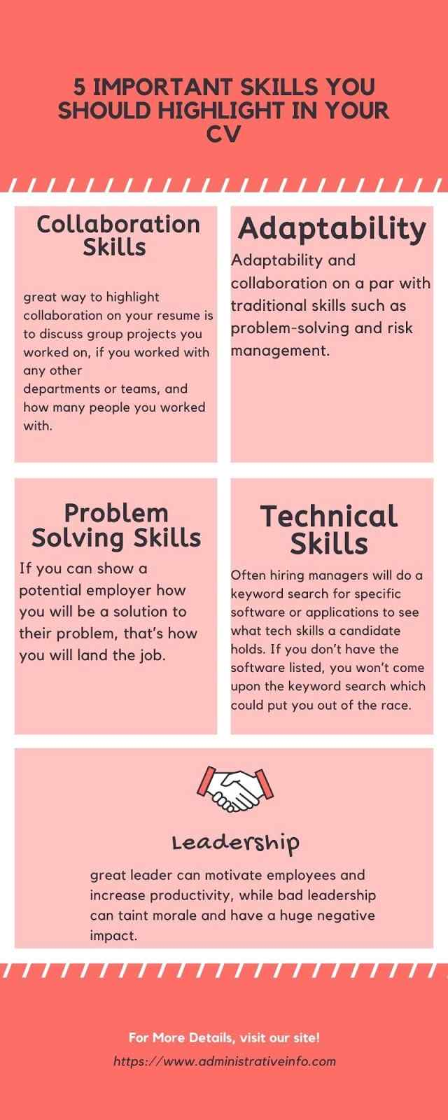 5 Important Skills You Should Highlight in Your CV