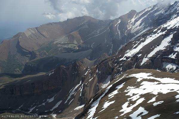 Вид с вершины Ярудаг на северные склоны Шахдагского массива
