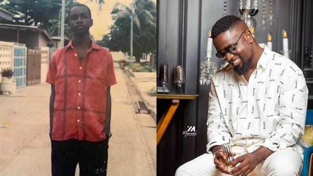 """Throwback photo of when Sarkodie was referred to as """"Co"""" in a photo with Edem And Chris Attoh pops up"""
