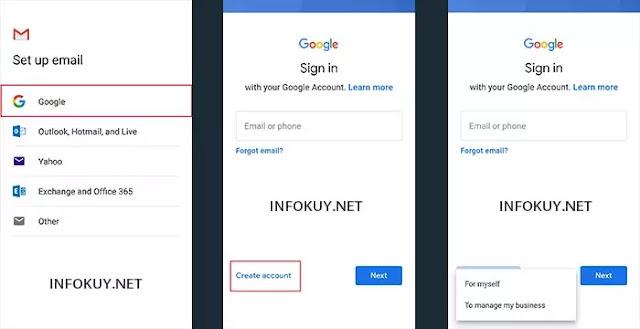 Cara Membuat Email Baru di HP Lewat Gmail #2